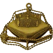 1960 Miss America Pageant 14k Charm Pendant