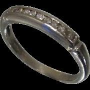 Art Deco Platinum Diamond Wedding Band Sz 5.5 1/10 cttw .1 Ring