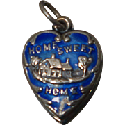Enamel Home Sweet Home Puffy Heart Charm