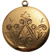 Gold Filled Floral Locket Pendant