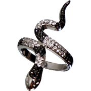 Sterling CZ Snaked Ring Sz 10