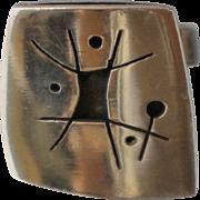 Single Ed Wiener American Modernist Sterling Cufflink Cuff Link
