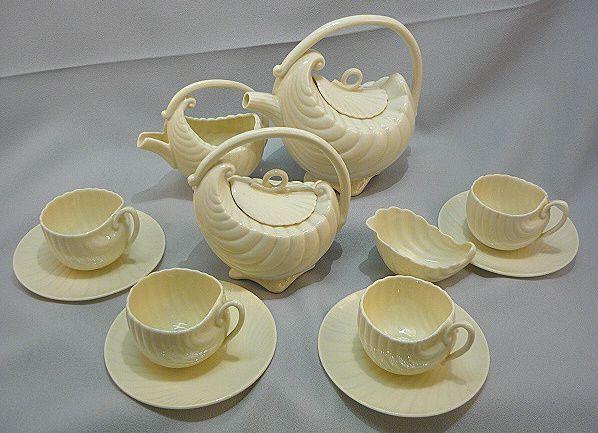 Vintage Lenox Porcelain Tea Set Sea Shell Design Art Deco Style