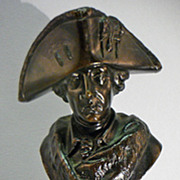 Vintage Bronze Sculpture Frederick II Prussia By Gladenbeck Foundry Germany