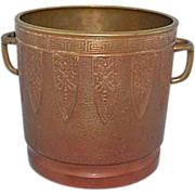 Art Nouveau Japanese Chinese Bronze Planter Wine Bucket