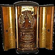 Antique Japanese Meiji Zushi Altar Shrine Buddha Jpan Buddhist