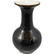 Old Chinese Porcelain Mirror Black Cabinet Mini Vase