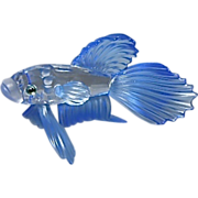 Swarovski Crystal Siamese Fighting Fish Glass Sculpture