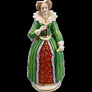 Queen Elizabeth I Porcelain Figurine French Samson Dresden Style