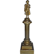 Antique Grand Tour Napoleon Bronze Statue Sculpture On Pedestal France