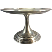 1922 Elkington Silver Plate English UK Compote Tazza Small Cake Dessert Stand