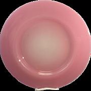 Frederick Carder Steuben Signed Rosaline & Alabaster Pink Jade Glass Charger Under Plate