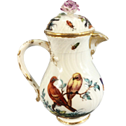 Antique Helena Wolfsohn Meissen Porcelain Mini Teapot Germany Birds Insects
