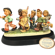 Rare Hummel Porcelain Group Worldwide Wanderers Lt Ed Germany Goebel