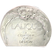 Lalique France Art Glass Store Advertising Display Sign French