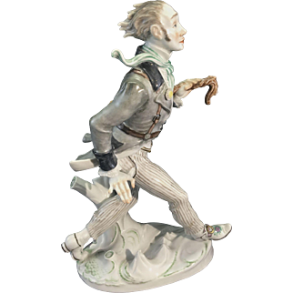 Large Meissen German Porcelain Figurine Peter Schlemihl By Willy Munch Khe