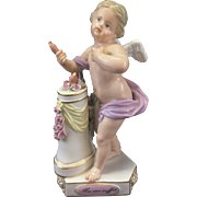 Meissen Germany Porcelain Cupid Cherub Putti Figurine Un Me Suffit