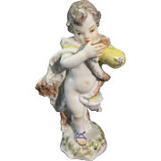 Meissen Porcelain Cupid Cherub Putti Figurine Four Seasons Winter
