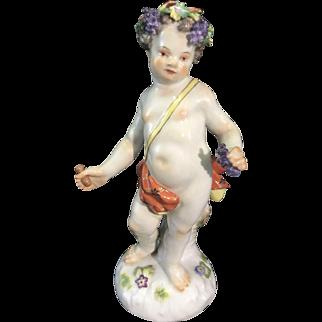 Meissen Porcelain Baby Bacchus Cupid Cherub Figurine