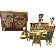 1945 Lil Abner Dog Patch Tin Toy Wind Up Band W Box & Instructions