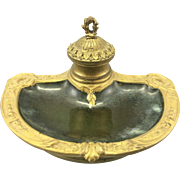 Bronze Dore Porcelain Charles Louchet Inkwell Paris France Louis XVI