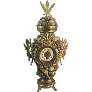 Old German Empire Style Ormolu Clock With Beach Shells Shabby Chic