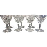 7 Baccarat France Crystal Sherry Glasses Val de Loire Pattern