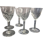 5 Baccarat France Crystal Cordial Glasses Val de Loire Glass Pattern