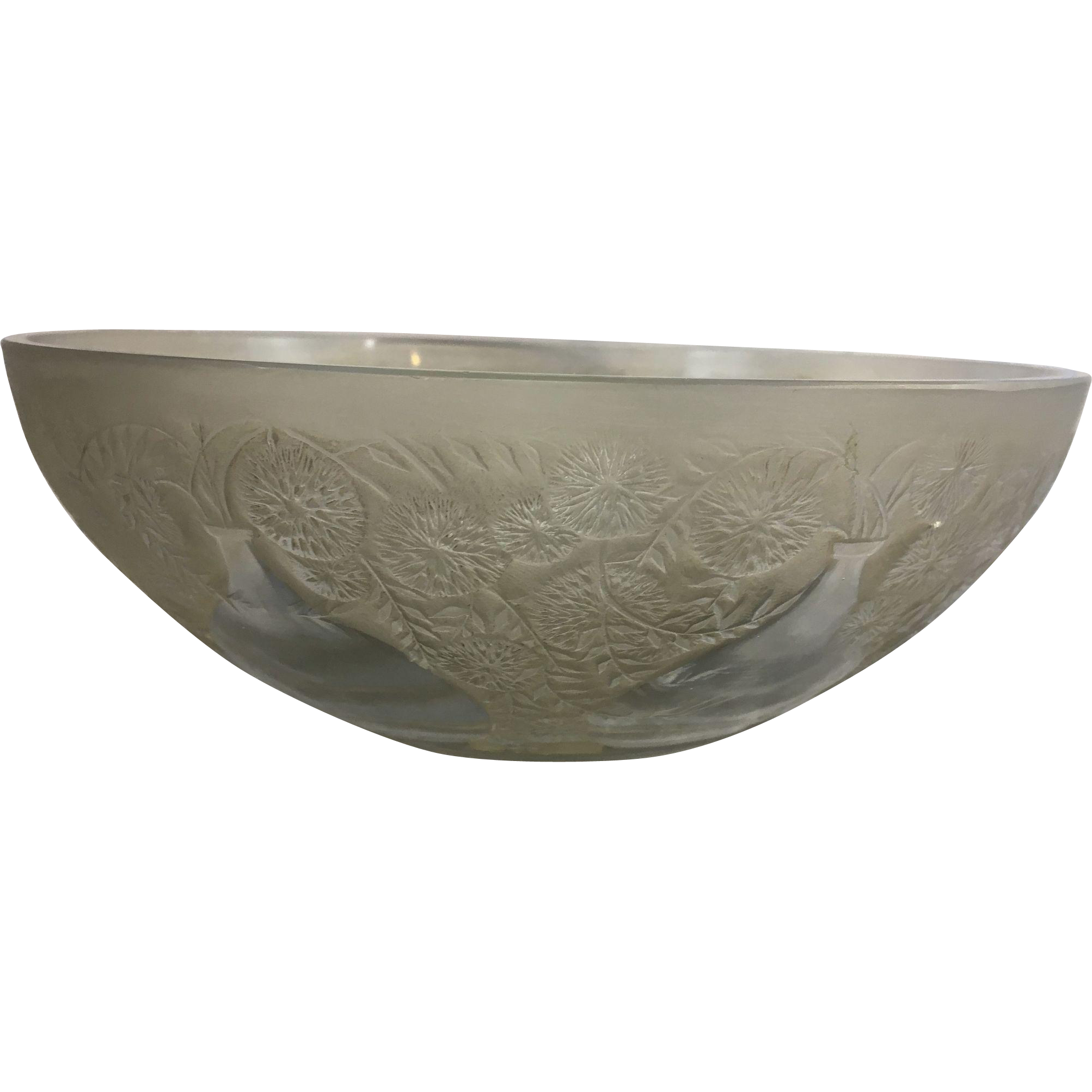 1921 rene r lalique art glass bowl vases france french frosted 1921 rene r lalique art glass bowl vases france french frosted brown patination clear floridaeventfo Gallery