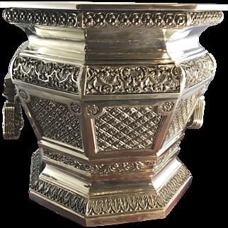 Royal Selangor Pewter Wine Champagne Cooler Bucket Holder W Wood Presentation Box