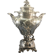 George III Sheffield English Silver Plate Hot Water Urn Samovar Sterling Finial