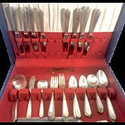 Vintage Westmoreland Sterling Silver Flatware Lady Hilton 55 Piece Set For 8