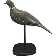 Old English Wood Carved Pigeon Dove Decoy