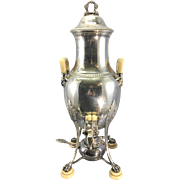 French Sterling Silver Edmond Tetard 19th century Coffee/ Tea Urn Samovar 950/1000 silver