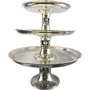Alphonse La Paglia International Sterling Silver Cake Plate 3 Tiered Tazza Compote
