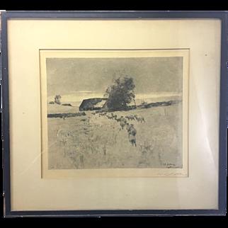 William Langston Lathrop Signed Etching