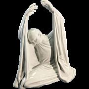 """Large Rosenthal Porcelain Figurine Sculpture of Dancer Harald Kreutzberg as """"Der Engle Lucifer,"""" by Waldemar Fritsch,"""