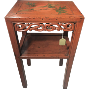 Greta Garbo Estate Owned Asian Lacquered End Lamp Table Chinoiserie Julian's Auction House