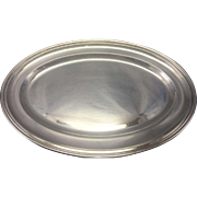 Vintage Padova Italy 800 Silver Oval Tray Platter