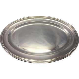Vintage Padova Italy 800 Silver Oval Tray Platter