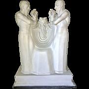 Massive Art Deco Plaster Stylized Maquette Sculpture Moses W Aaron & Hurr