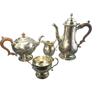 Vintage London Sterling Silver Georgian Style Tea Set Service Hallmarked