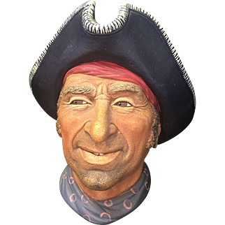 Vintage 1982 Bossons England Chalk Ware Captain Kidd Privateer Head