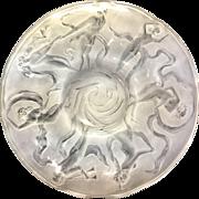 Consolidated Phoenix Art Glass Martelè Dancing Nymph Fairies Center Piece Bowl
