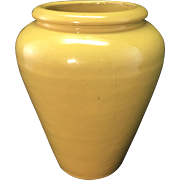 Vintage Catalina Island Art Pottery Yellow Mini Oil Jar Vase