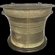 Antique South Eastern Asian Burmese Bronze Rain Drum Table Base
