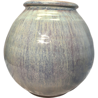 Shearwater Art Pottery Flambe Glaze Ovoid Vase Mississippi