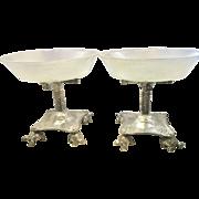 Pr Art Nouveau Aesthetic Period Silver Plate Epergne Centerpiece Massive Turtle Feet