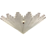 Art Deco Frosted Satin Glass Ceiling Light Shade Geometric Skyscraper Cone #2