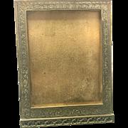 Tiffany Studios Art Nouveau Bronze Table Top Picture Frame Venetian Pattern Gold Dore